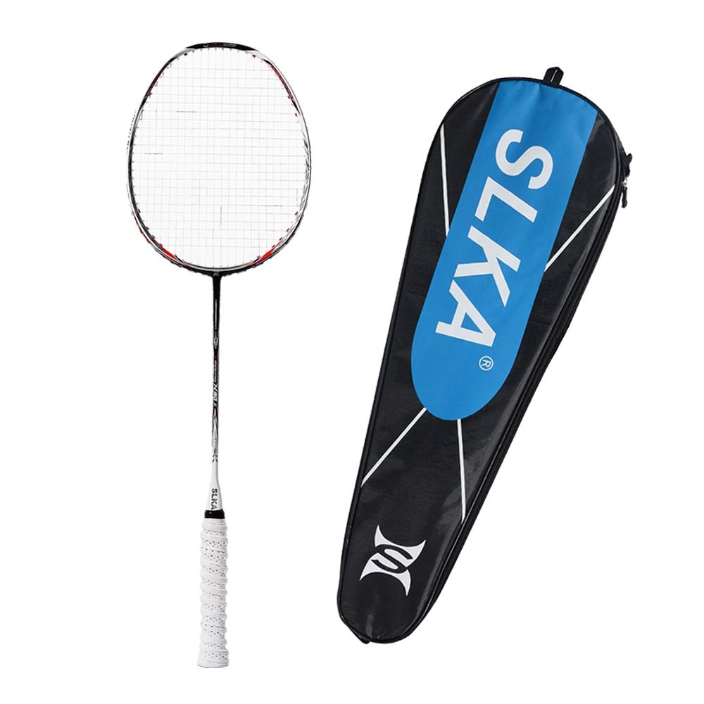 High Quality N90 III Professional Carbon Badminton Racket 7U 67g 30 LBS Strung Badminton Racquet Sports Equipment With Grips Bag