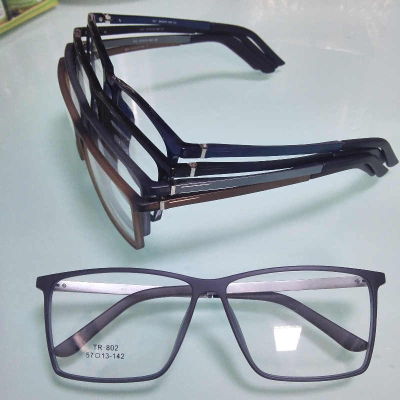 161719278ad 2018 new TR90 front Aluminum glasses frame men women prescription myopia  optical brand clear eyeglass frames