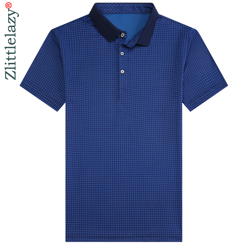 2019 fashions short sleeve   polo   shirt men clothes mens slim fit plaid pol tee shirts poloshirt summer   polos   streetwear 8878