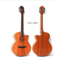 Wholesale 41inch F hole electric box folk personality shaped sound hole 40 inch electric box guitar jazz stage veneer