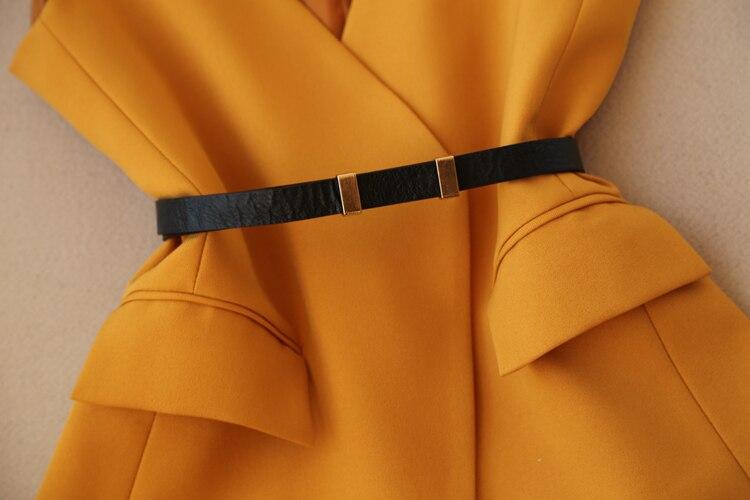 Set female spring new fashion suit female OL temperament V-neck vest + high waist straight wide leg pants elegant two-piece