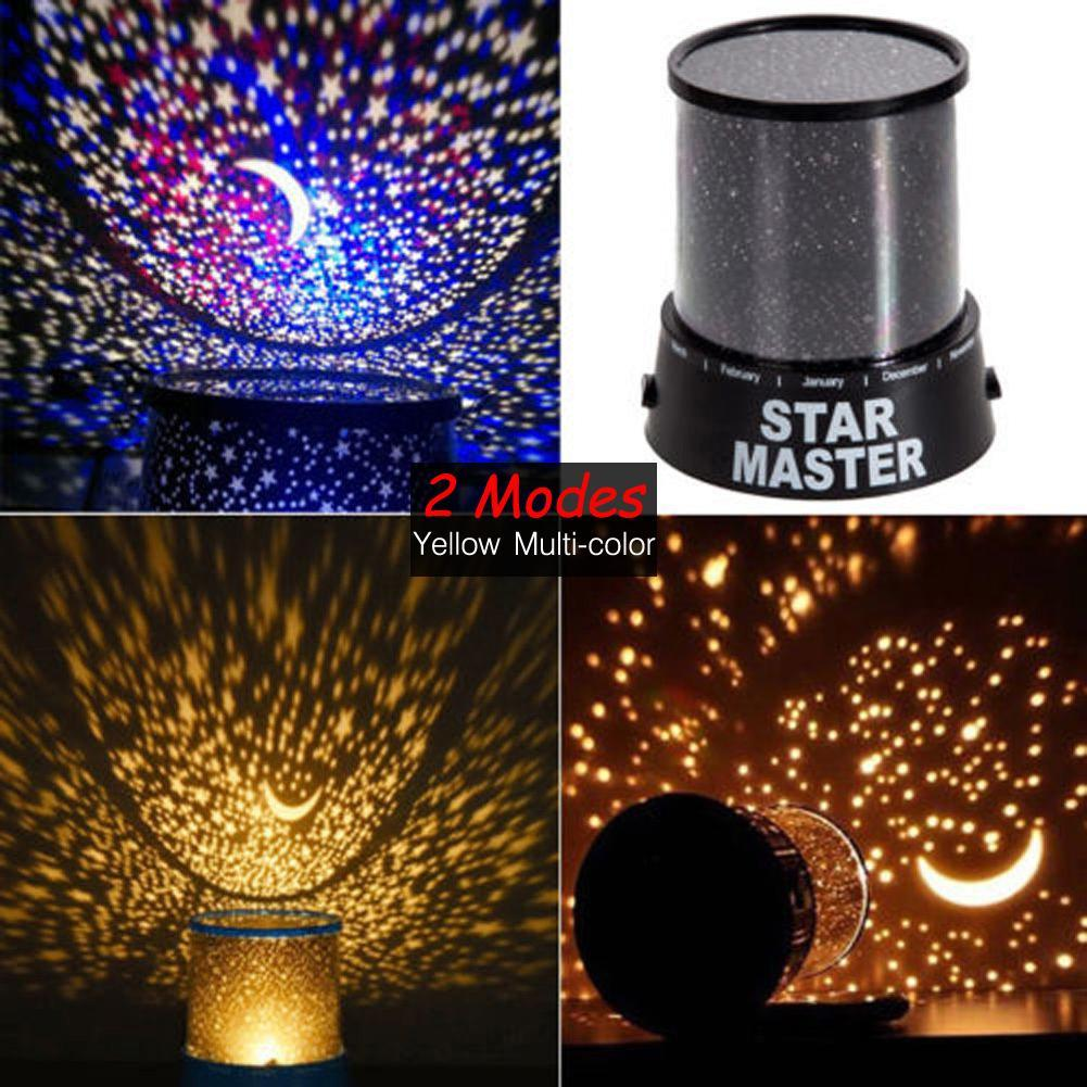 Bedroom planetarium projector for kids - Room Novelty Night Light Projector Lamp 2 Modes Starry Star Sky Cosmos Master Kids Children Baby