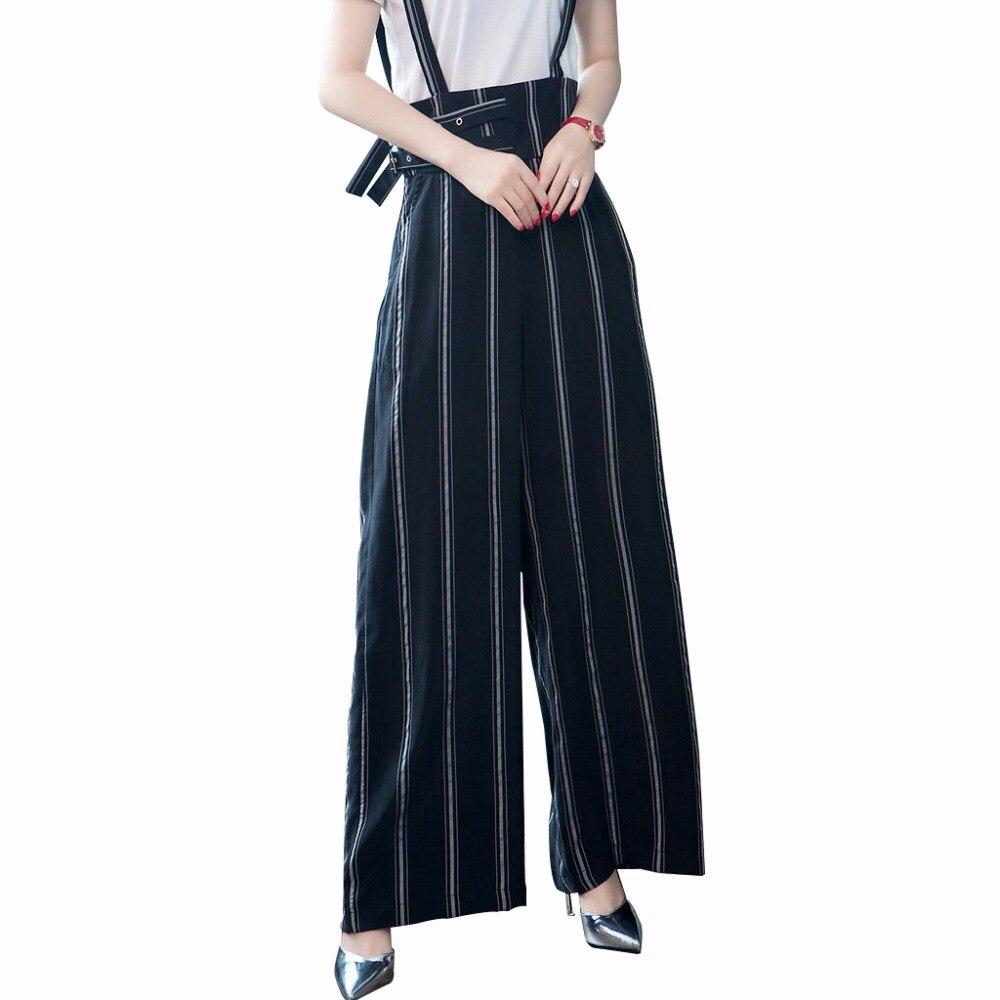 bc14824e5a MOBTRS-Bleu-Salopette-Femmes-De-Mode-Salopette-L-che-Jambe-Large-Pantalon- Femme-Sans-Manches-Ray.jpg