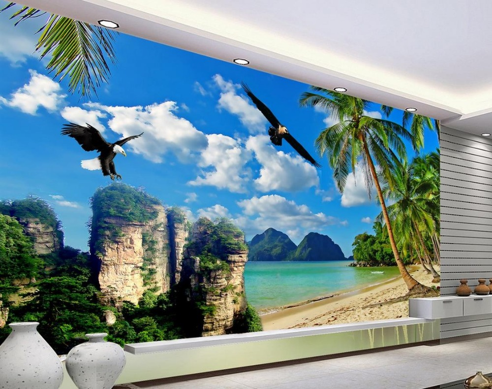 online get cheap tree wall mural aliexpress com alibaba group custom 3d wallpaper sea tree eagle background wall photo wall murals wallpaper mural 3d wallpaper