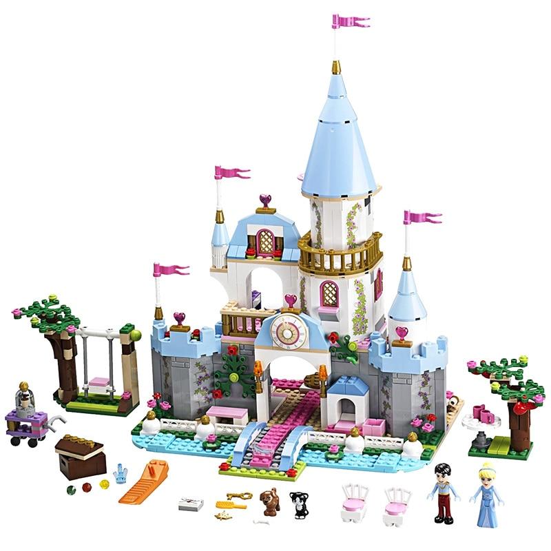 JG305 669pcs Princess Cinderella Romantic Castle Building Blocks Brick Toy For Girls Sets Compatible With Legoe Friends икона янтарная богородица скоропослушница кян 2 305