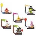 Pájaros locos película figuras building block sets juguetes rosa pájaro de dibujos animados compatible con lego