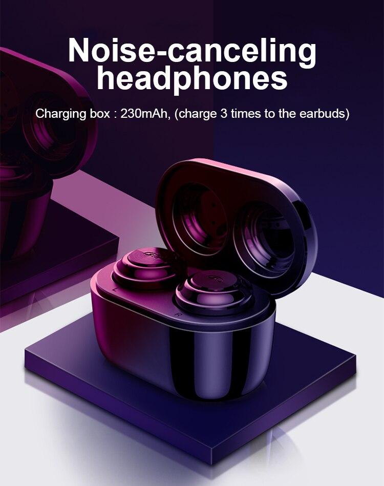 TWS Bluetooth 5.0 Earphones Wireless Headphones Blutooth Earphone Handsfree Headphone Sports Earbuds Gaming Headset For Phone