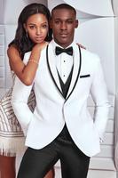 Свадебные смокинг Белый 3 шт. костюмы мужчины носят изготовление под заказ костюм воротником для 2018 платье