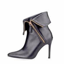 2019 New Fashion Winter pointed toe Sexy thin high heels ladies mujer short boots woman ankle boots sexy shoes for women new women ankle boots high heels pointed toe winter boots with fur black shoes woman high heels sexy winter boots women b 0195