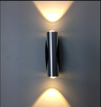 2W Wall Lamp High POWER Led Wall Lamp Light Up and Down Side Aluminum AC85-220V(China)