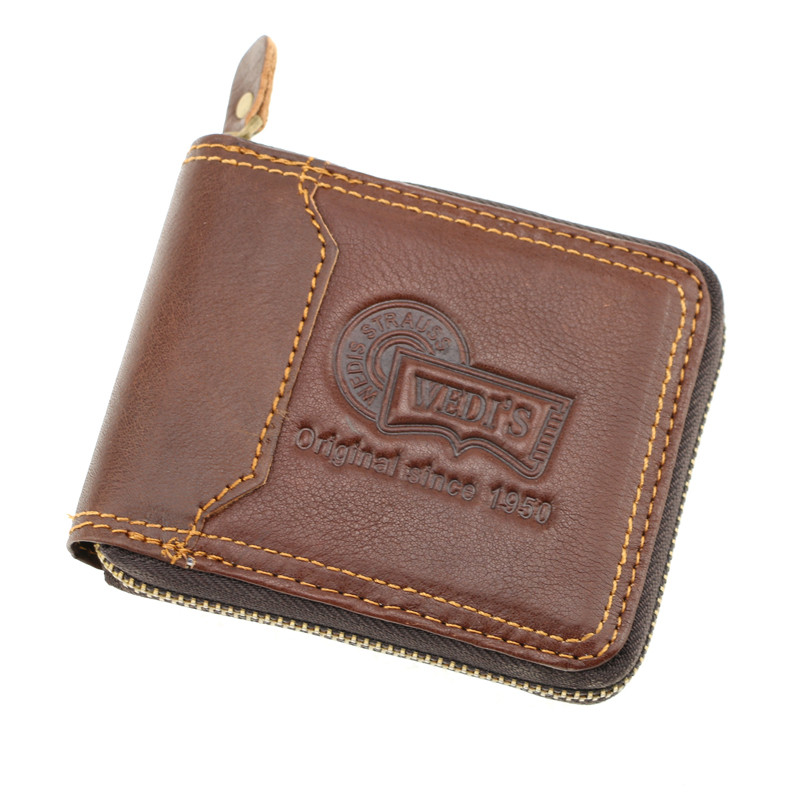 Sales promotion Mens Genuine Leather Hasp Zipper Wallets Men Real Cowhide Wallet  Card Holder Male Purse Carteira Masculina smirnoff slim genuine leather wallet case hand made custom name hasp simple style mens wallet super thin card purse mini wallet