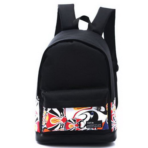 f5161e821020 US $11.99 20% OFF Fashion Chinese Printing Women Men's Canvas Oxford  Backpack School bag For Boy Girl Teenagers Casual Travel Mochila  Rucksack-in ...