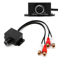 Новый автомобильный аудио усилитель бас RCA уровень дистанционного управления громкостью ручка LC-1 Универсальная