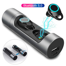 Nasin X8 TWS New Wireless Bluetooth 5.0 Earbuds Deep Bass Waterproof Earphones with Microphone Charging Box for Phone PC