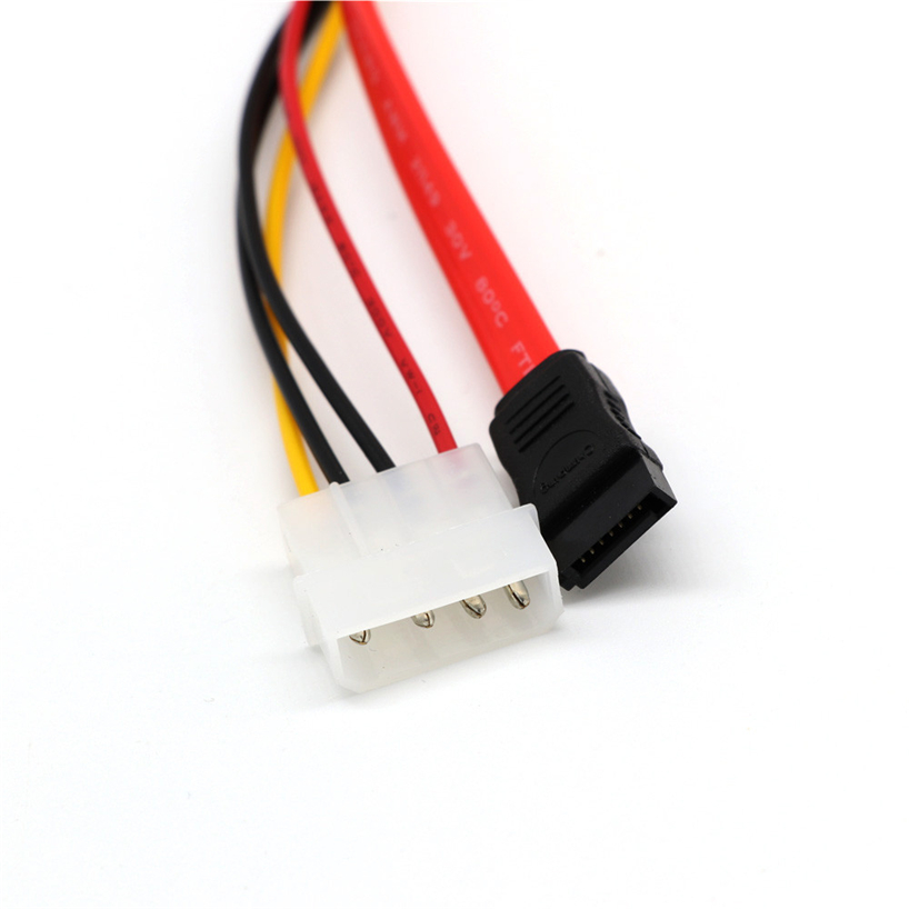 30 <font><b>Cm</b></font> <font><b>SATA</b></font> Combo <font><b>15</b></font>-pin Power Supply Serial ATA LEA Wire 7-pin Data <font><b>Cable</b></font> 4-pin Molex Integrated <font><b>SATA</b></font> Driver JQ0327 image