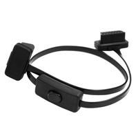 Male To Female OBD Scan Diagnostic Cable Flat Extension Transfer Cable For OBD2 16pin to 16Pin Flat Full Access Connector