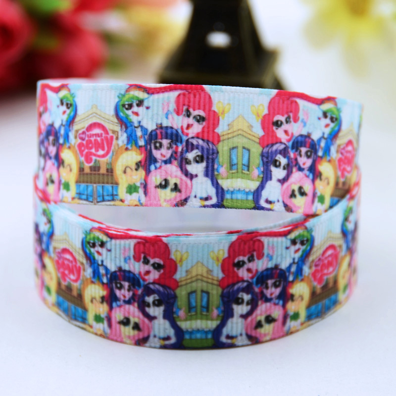 Cartoon Character Printed Grosgrain Ribbon Party Decoration Satin Ribbons Oem 10 Yards X-00622 Clients First 22mm Rapture 7/8