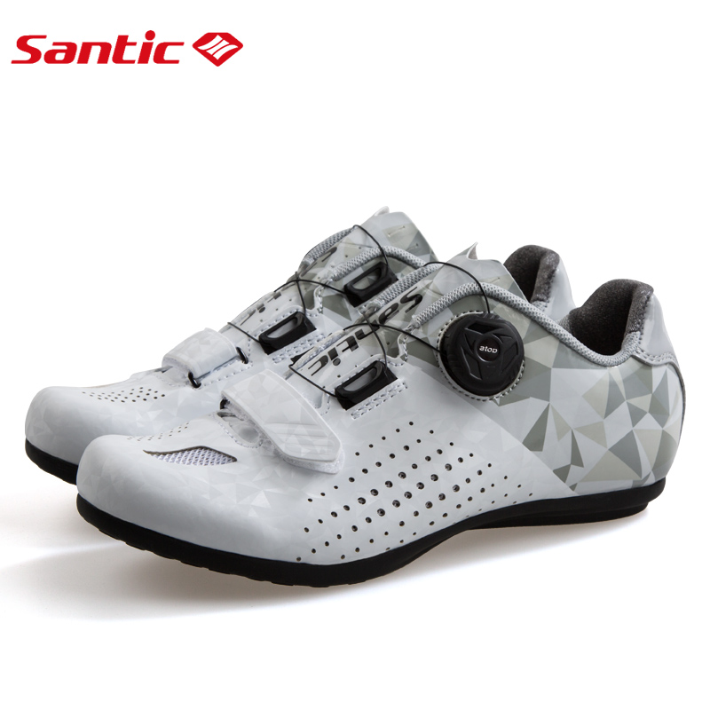 Santic New Women Breathable Self-Locking Cycling Shoes Road Bike MTB Bicycle Flat Shoes Non-Slip Athletic Racing Sneakers 36-39Santic New Women Breathable Self-Locking Cycling Shoes Road Bike MTB Bicycle Flat Shoes Non-Slip Athletic Racing Sneakers 36-39