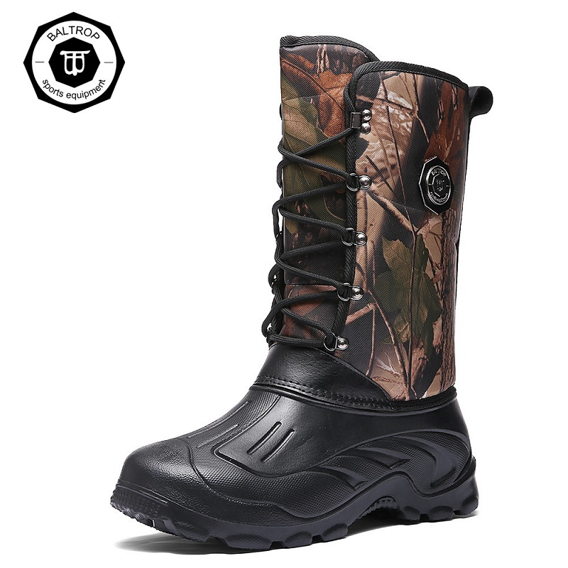 2019 Winter Mens Water Shoes Keep Warm Cotton Snow Shoes Fishing Hunting Wear Waterproof Outdoor Waders Rain Boot Fish Shoes