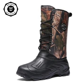 2021 zimowe męskie buty do wody utrzymuj ciepłe bawełniane buty śniegowce wędkarstwo polowanie nosić wodoodporne outdoor Waders kalosze buty rybne tanie i dobre opinie KING SANDALS CN (pochodzenie) Pasuje prawda na wymiar weź swój normalny rozmiar Spring2019 Gumką Zaawansowane Wodoodporna