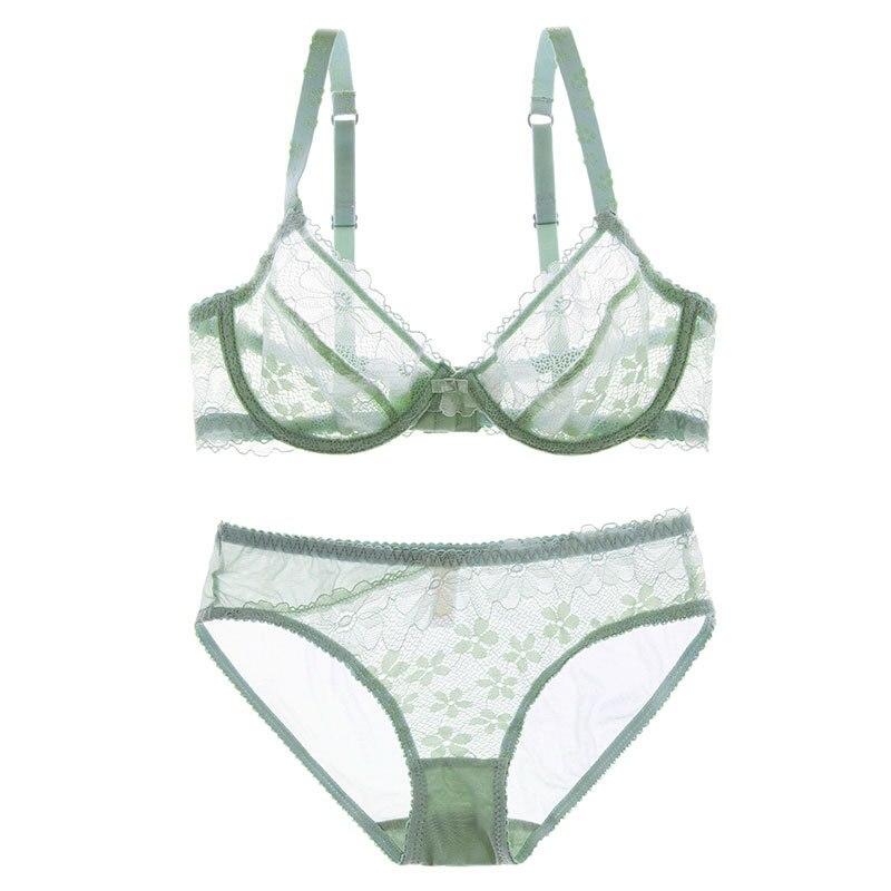 Women/'s Mint Green Push-Up Bra /& Panty Panties Set