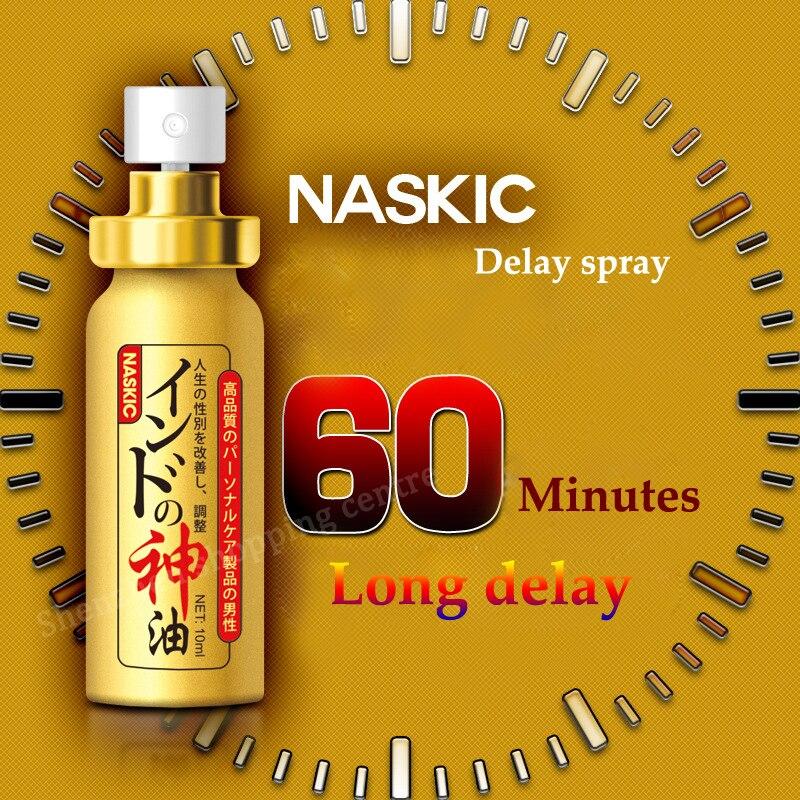 (2pcs) Japan NASKIC Long Time Delay Spray For Men God Oil Penis Enlargement 60 Minutes Delay Ejaculation Sex Spray Sex Products