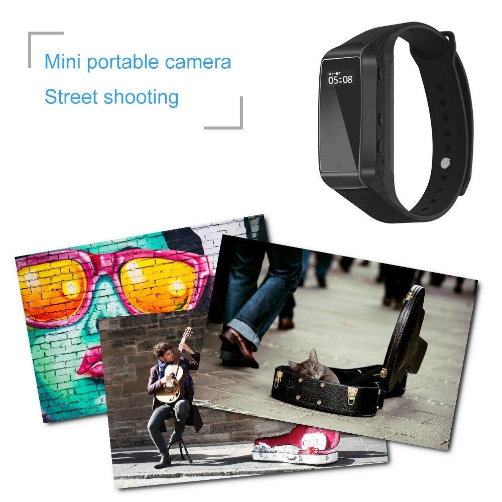 Fitness Pista Funzione Braccialetto di Sport Esterno Utilizzando Digitale Mini Macchina Fotografica Segreta Cam Micro Indossabile Intelligente Orologio Espia VoiceRecord