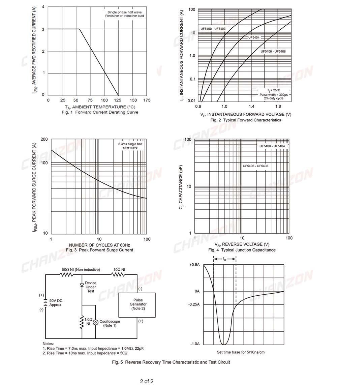 1N5404 Diode Diodes Rectifier 3A 400V DO-201 100  pcs
