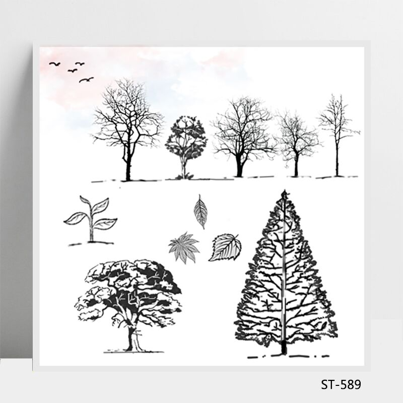 Tall big tree Transparent Silicone Stamps/Seal for DIY Scrapbooking/Photo Album Decorative Card Making Clear Stamps Supplies