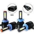 2 unids Super Brillante de Coches Faros H7 9005/HB3 72 W 16000LM COB Bombilla LED Auto Delantero Faros De Automóviles 6500 K 9-32 V Car Styling