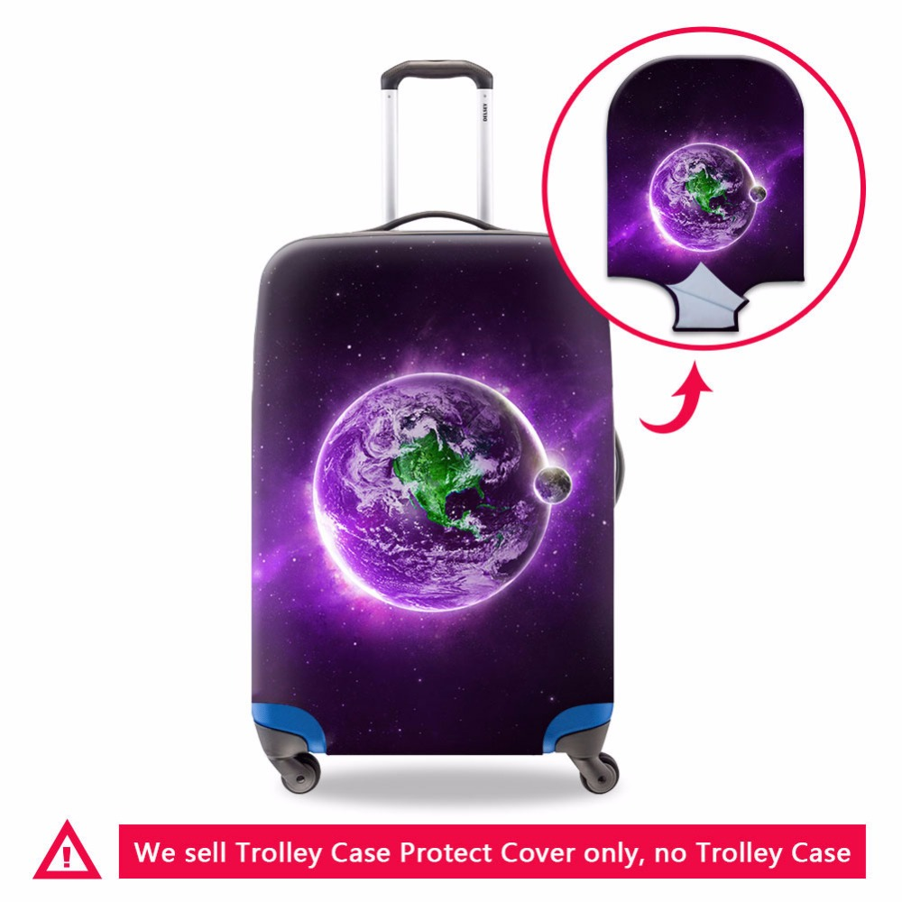 Dispalang Galaxy Design Luggage Cover For 18 20 22 24 26 28 30 Inch Cool Suitcase Protective Travel Luggage Bag Cover For Women