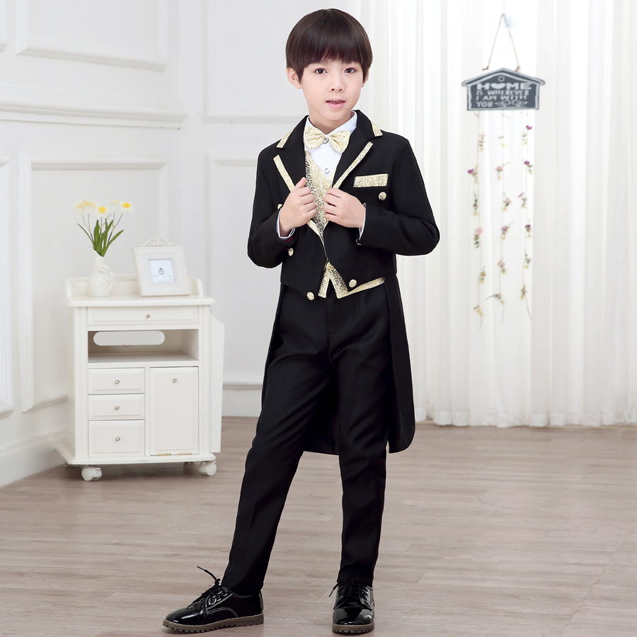 Childrens Dresses Jacket Boysswallow Tails Babies Suits Wedding  Piano Performing Dresses suit Host Huatong size 110-160Childrens Dresses Jacket Boysswallow Tails Babies Suits Wedding  Piano Performing Dresses suit Host Huatong size 110-160