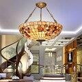 Европейская тиффания Ретро раковина Средиземноморское море пасторальный подвесные светильники Luminaria Teto для украшения дома скандинавский