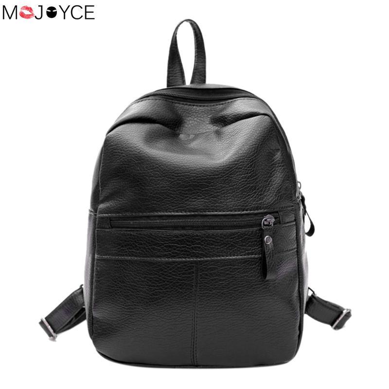 New Travel Backpack Korean Women Female Rucksack Leisure Student School Bag Soft Pu Leather Women Bag Bolsa Feminina