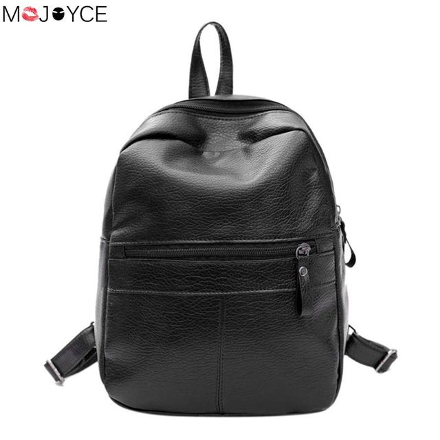 22509d07fc2a New Travel Backpack Korean Women Female Rucksack Leisure Student School bag  Soft PU Leather Women Bag