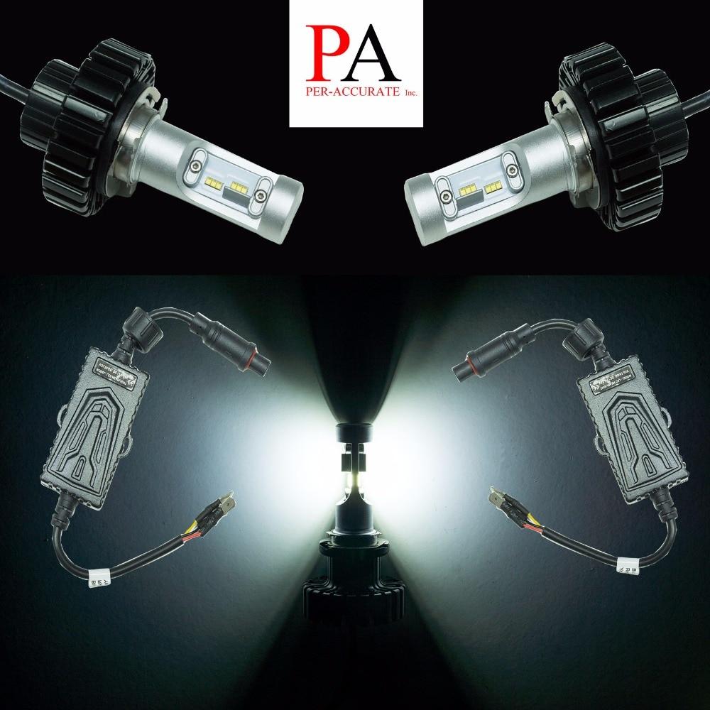 PA LED 1Pair x For Mazda 3 6 CX5 H15 Philips LED Chip High Beam Daytime Running Light Bulb White 6000K