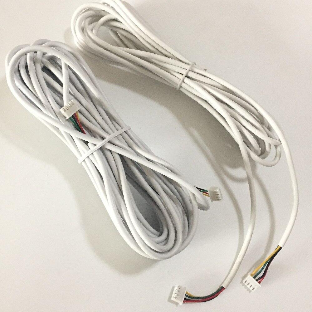 Türsprechstelle 4 Core Kabel 5 Mt Für Video-türsprechanlage Türklingel Intercom Zubehör Von Der Konsumierenden öFfentlichkeit Hoch Gelobt Und GeschäTzt Zu Werden Sicherheit & Schutz