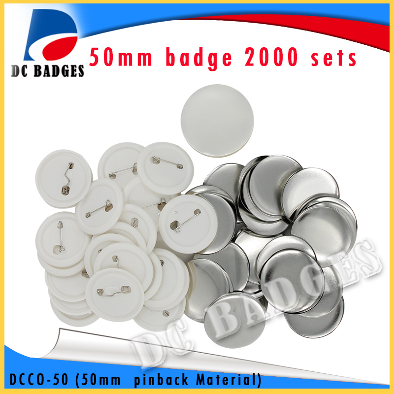 2017 Factory Hot Selling 2(50mm) 2000sets  Plastic Pinback Badge Material 2017 wholesale manufacturers 2 50mm 1000sets plastic pinback badge material