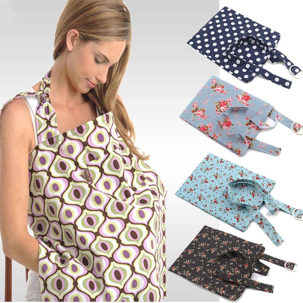 Baby Mum Breastfeeding Nursing Poncho Udder Cover Up Cotton Blanket Shawl Covers
