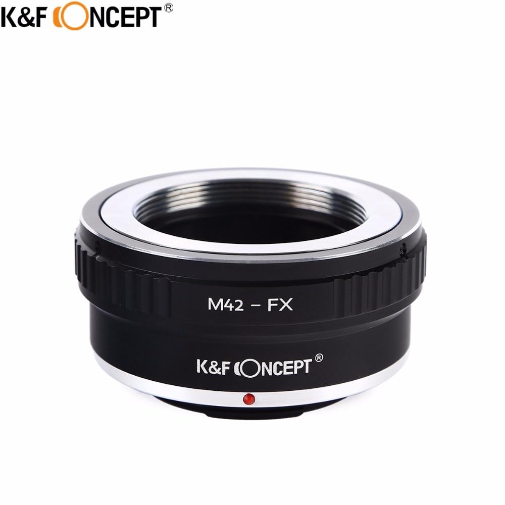 K&F CONCEPT M42-FX Camera Lens Adapter Ring for M42 Screw Mount Lens to for Fujifilm FX Mount X-Pro1 X-E1 X-M1 X-A1 X-E2 Camera цена и фото