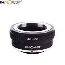 K & F CONCEPT M42 FX anillo adaptador de lente de cámara para M42 lente de montaje de tornillo para Fujifilm montaje FX X Pro1 X E1 X M1 CÁMARA DE X A1