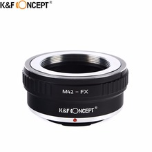 K & F konsept M42 FX kamera Lens adaptörü halka M42 vidalı bağlantı Lens Fujifilm FX dağı X Pro1 X E1 X M1 x A1 X E2 kamera