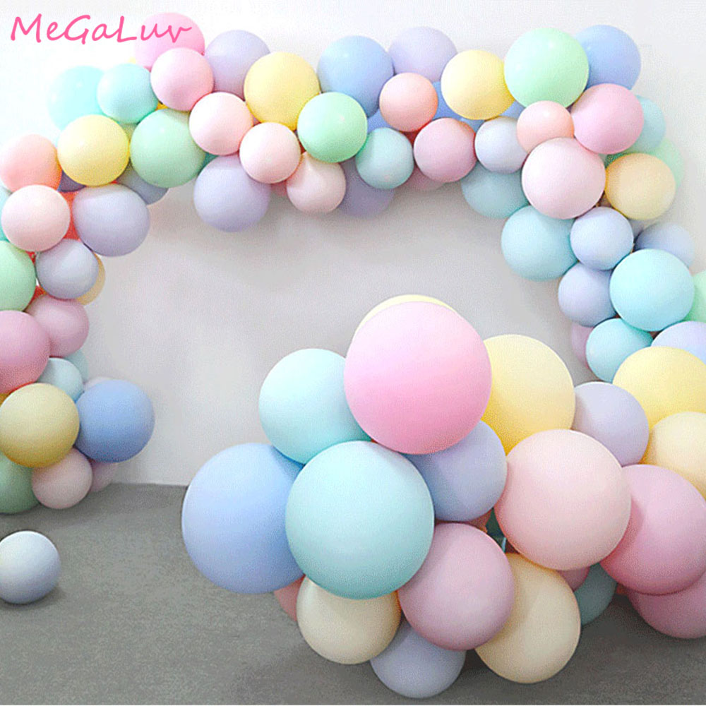 30pcs Macarons Ballons Pastel Party Candy Balloons  1st 2nd 3th Birthday Party Decorations Girl Boy Baby Shower Wedding Golobos