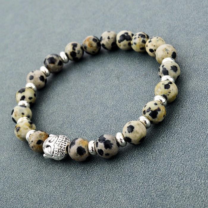 Женский и мужской браслет с бусинами chicvie черный Будда золотого