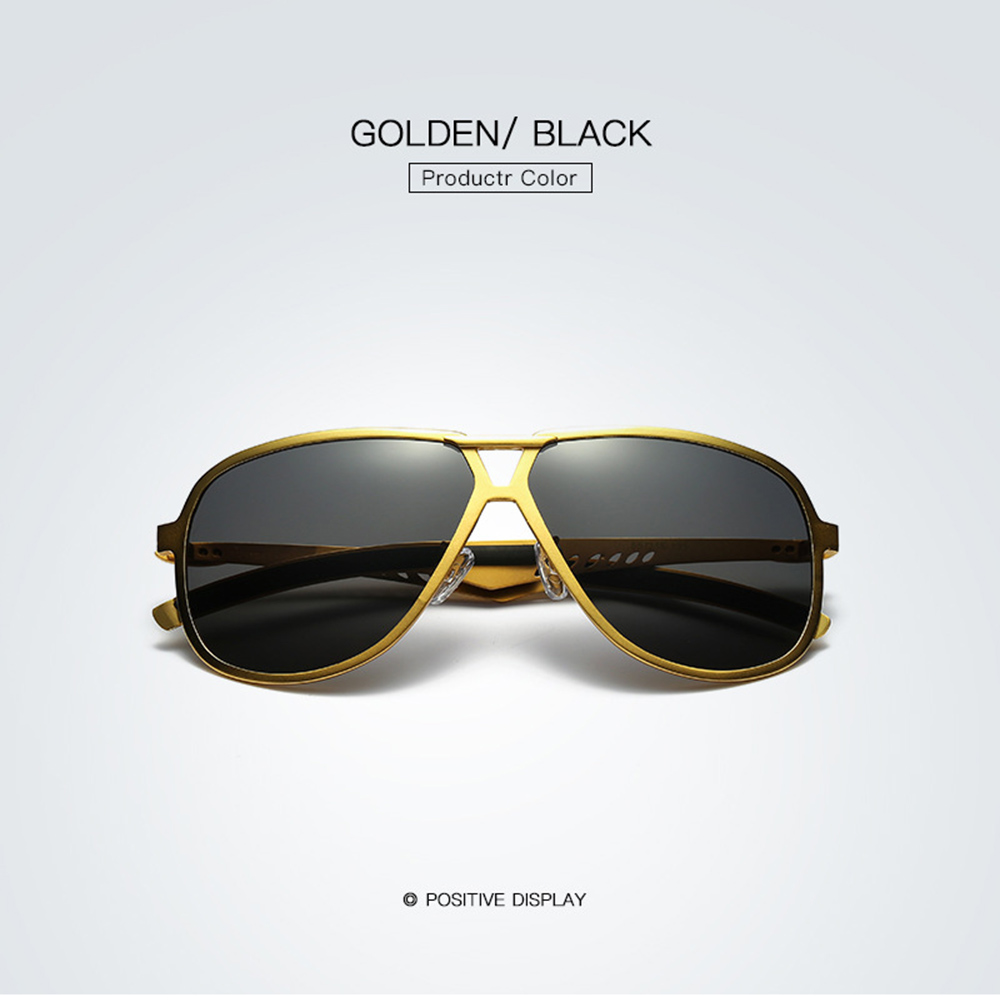 Al mg Alloy Cool Double Bridge Gold Black Frame Polarized Sunglasses Custom Made Myopia Minus Prescription Polarized Lens 1To 6 in Men 39 s Sunglasses from Apparel Accessories