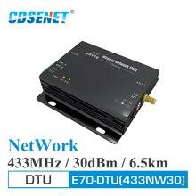 RS232 RS485 نجمة شبكة 433MHz 30dBm 1W طويلة المدى الإرسال والاستقبال اللاسلكية E70 DTU 433NW30 قام المحفل PLC بيانات الارسال RF وحدة