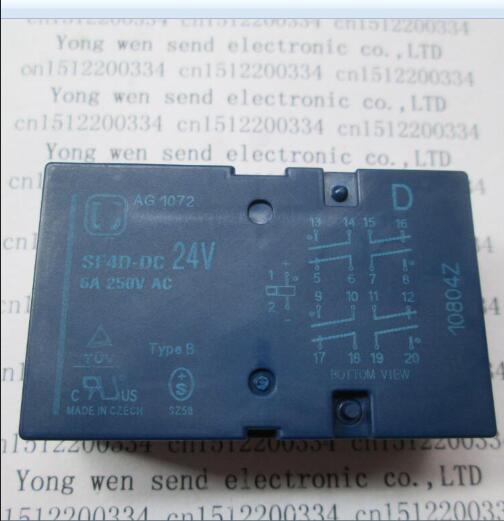 24V relay SF4D-DC24V SF4-DC24V SF4DDC24V DC24V 24V 24VDC 6A 250VAC 14PIN все цены