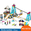 Bela 10732 Friends bricks 591PCS compatible 01042/ 41324 Snow Resort Ski Lift Building Blocks Bricks Toys for Girls Gifts