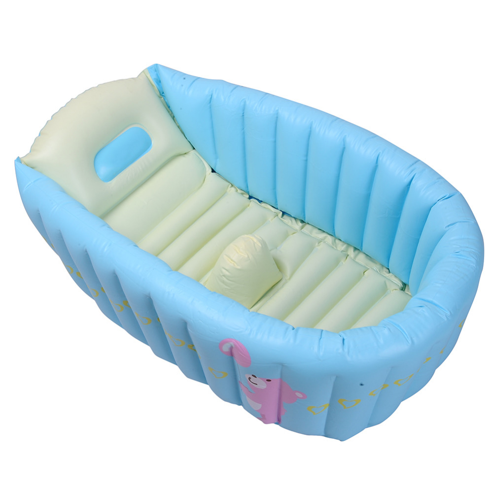 Baby bath chairs for the tub - Portable Baby Infant Inflatable Bath Tub Blue Red Children Bathing Seat Bathtub Thickening Fold Kids Washbow