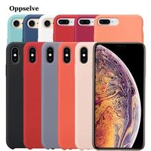 Liquid Silicone Phone Case For iPhone 11 Pro X XS Max XR 8 7 6 S Plus Microfiber Luxury Case Cover For iPhone X 11 Capinhas 2019